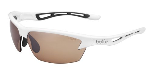 Bolle Bolle Bolt Sunglasses, Shiny White/Modulator V3 Golf Oleo AF Lens
