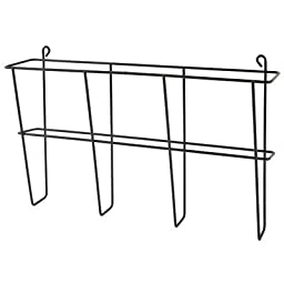 Buddy Products Wire Ware 1 Pocket Literature Rack, Letter Size, 3 x 9.5 x 13 Inches, Black (6301-4)