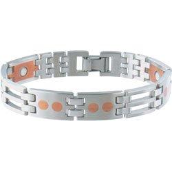 Sabona Stainless/Copper Link Magnetic Bracelet (SIZE: Extra Large)