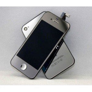 Kit color argento silver a specchio completo per iphone 4s lcd digitizer cover posteriore in - Girare foto a specchio iphone ...