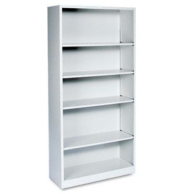 """Hon - Metal Bookcase Five-Shelf 34-1/2W X 12-5/8D X 71H Light Gray """"Product Category: Office Furniture/Bookcases & Door Kits"""""""