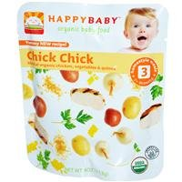 Happybaby - Organic Baby Food Stage 3 Meals Ages 7+ Months Chick Chick - 16X4 Oz.