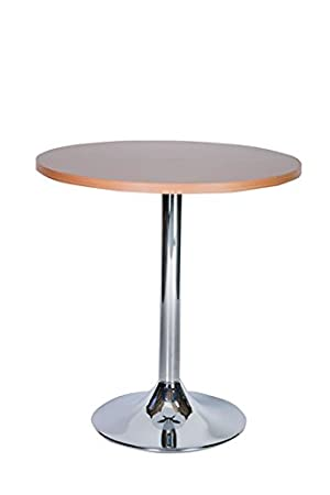 becks large round table kitchen and dining table chrome 120cm