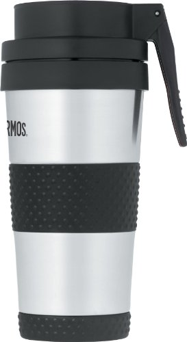 Thermos 14 Ounce Vacuum Insulated Stainless Steel Lever Operated Lid Tumbler, Stainless Steel (Nissan Mug compare prices)