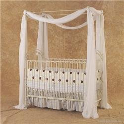 Bratt Decor Venetian Iron Crib Color: Antique White