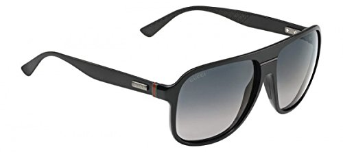 Gucci GG1076/S Sunglass-0GVB Shiny Black (HD Gray Gradient Lens)-59mm