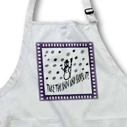 Discount Snow and Shovel It - Full Length Apron With Pockets 22w X 30l