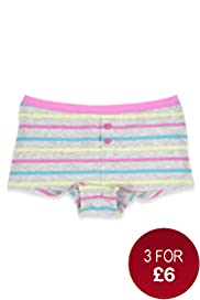 Pure Cotton Neon Stripe Print Boxers