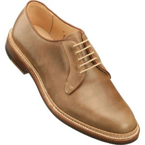 Alden Men's Plain Toe Blucher Natural Chrome Excel Shoes - 9501