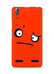 Amez designer printed 3d premium high quality back case cover for Lenovo A6000 (Sad face facial expressions)