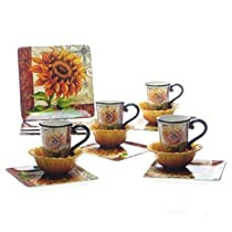 Certified International Tuscan Sunflower 16-piece Dinnerware Set-Service for Four