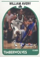 William Avery Minnesota Timberwolves 1999 Skybox X Autographed Hand Signed Trading... by Hall+of+Fame+Memorabilia
