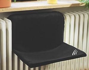 europet bernina 435 404331 hamac de radiateur pour chat comfort 50 x 38 cm noir. Black Bedroom Furniture Sets. Home Design Ideas