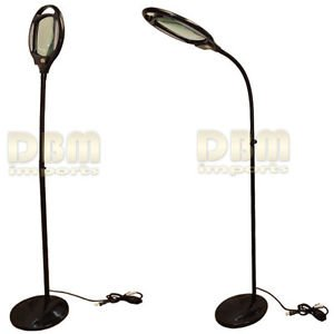 Black reading magnifier floor stand lamp light flexible for Amazon magnifier floor lamp