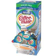 50 Pack Of Coffee-Mate Liquid Creamer, Sugar Free French Vanilla (Pack Of 2)