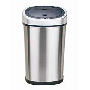 Nine Stars Motion Sensor Trash Can - 13 gal.