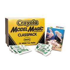 * Model Magic Modeling Compound, 1 oz each packet, White, 75 oz