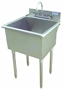 Laundry Tub Legs : ... Utility Sink with Drain, Stainless Steel - Utility Sinks With Legs