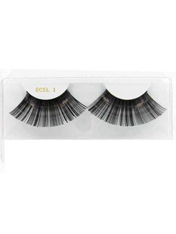 Black Metallic Super Long Eyelashes - ONE SIZE (Super Long Eyelashes compare prices)