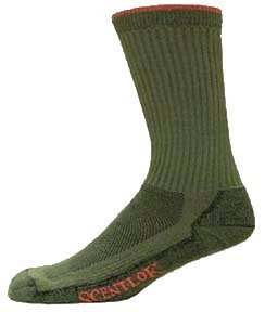 Scent-Lok Boot Socks Light Weight Green Sz: X-Large