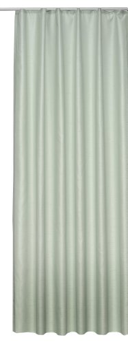 Übergardine Dekoschal #256 Vorhang blickdicht / lichtdurchlässig Kräuselband Gardine moderne Unifarbe (pastellgrün, Kräuselband / Universalband)