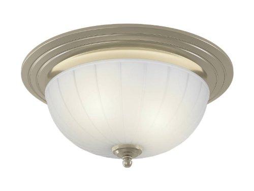 Nutone 745Bnnt 70 Cfm Corrosion Resistant Decorative Ventilation Fan With Light, Brushed Nickel Finish front-589694