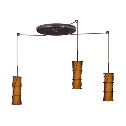 Pendant Light Bulb Type : Copa light mini pendant finish bronze glass shade