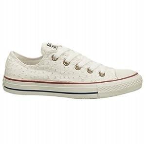 Converse Womens Eyelet Vutout White Sneaker - 9