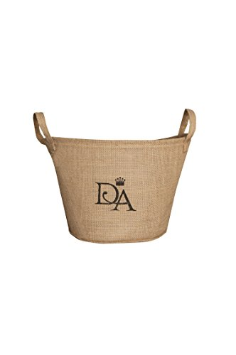 Heritage Lace Downton Abbey Downton Village Round Storage Basket, 10 by 8-Inch, Natural