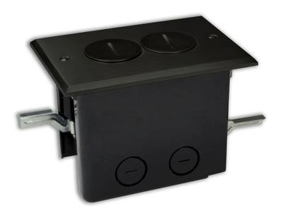 Allied Moulded Fb-2Db Duplex Receptacle, 1-Gang, Floor Box Assembly