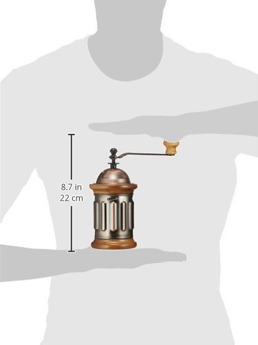 3E Home Manual Canister Stainless steel Burr Coffee Mill Grinder, Stainless Steel Top, and Antique Copper Body 6