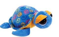 """Swirl Print Blue Sea Turtle 15"""" by Fiesta"""