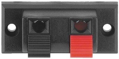 Bornier en applique 2 pôles pour haut parleur Monacor PT-916