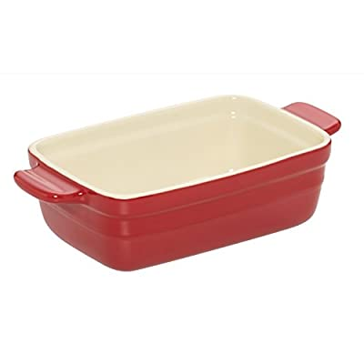 Baker's Advantage Ceramic Loaf Pan, 9 by 5-Inch, Red