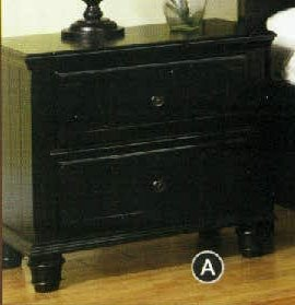 Willow Creek Black Cottage Night Stand front-1035332