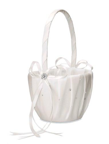 Weddingstar-Scattered-Pearls-and-Crystals-Flower-Girl-Basket-Ivory