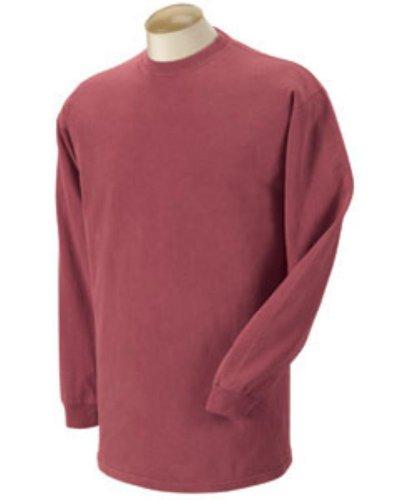 Comfort Colors C6014 6.1 oz. Garment-Dyed Long-Sleeve T-Shirt XL Crimson (Garment Dyed T Shirt compare prices)