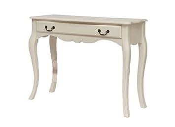 LPD Furniture - Cómoda, diseño retro, color blanco y negro