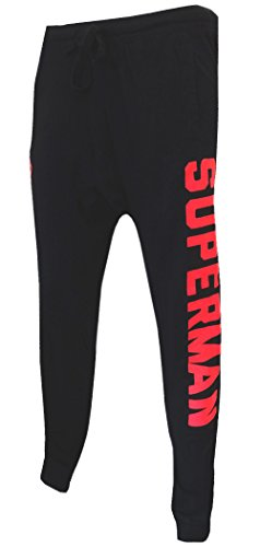 Superman Dual Logo Mens' Jogger Pants (Small) (Superman Pants compare prices)