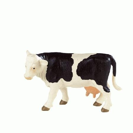 Bullyland Black & White Holstein Cow Figure - 1