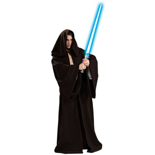 Super Deluxe Jedi Robe Men's Costume Adult Halloween Outfit ? One Size Fits Most Adults