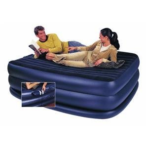 Intex Raised Downy Queen Airbed with Built-in Electric Pump