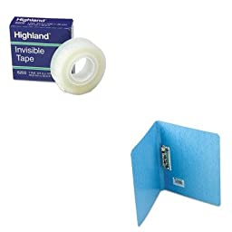 KITACC42522MMM6200341296 - Value Kit - Acco PRESSTEX Grip Punchless Binder With Spring-Action Clamp (ACC42522) and Highland Invisible Permanent Mending Tape (MMM6200341296)