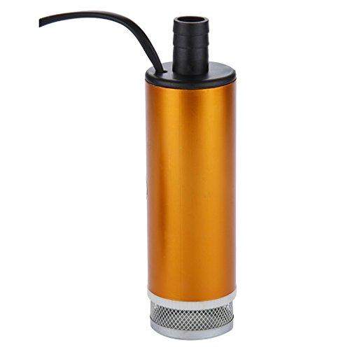 Floureon® Orange 12V Dc 30L/Min Submersible Diesel, Car Camping Submersible Diesel Pump Aluminum,Oil And Water Aluminum Pump