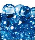 ビー玉 オーロラカラーマーブル 17mm ライトブルー 約200入