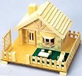木レンガ工作キット 芝生のある家 貯金箱