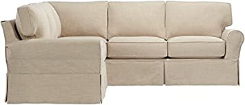 Mayfair Slipcovered Sectional - 37Hx104W - LINEN PEARL