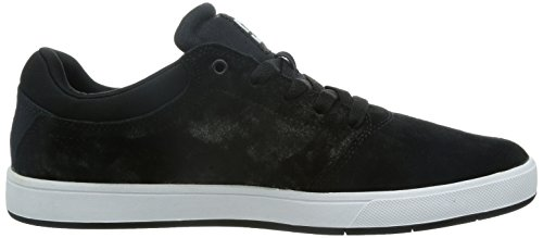 DC Men's Crisis Skate Shoe, Black/White, 9.5 M US