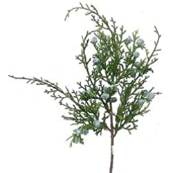 Package of 12 Artificial Juniper Sprays with Berries for Christmas and Winter Decorating