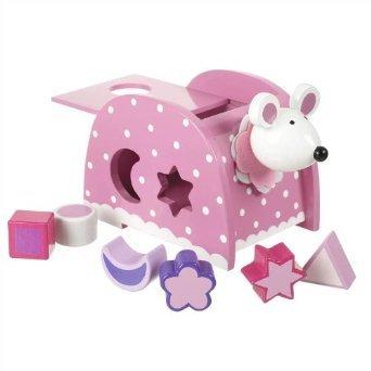 Bois de rose de forme de souris trieur par oranger jouets